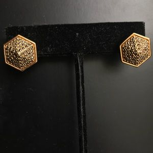 Vince Camuto studded gold earrings